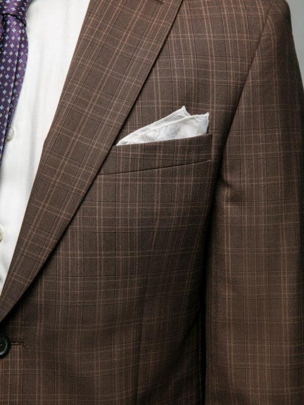GIBSON Мужской костюм коричневый в клетку.